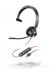 BlackWire 3310 USB-A - проводная гарнитура для ПК с шумоподавлением (моно, USB-A)