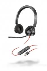 BlackWire 3320 USB-A - проводная гарнитура для ПК с шумоподавлением (стерео, USB-A)