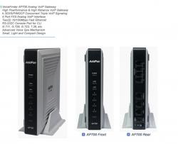 Шлюз голосовой Addpac ADD-AP700P (4 FXS, 1 резервный порт ТФОП, 2x10/100 BaseT)