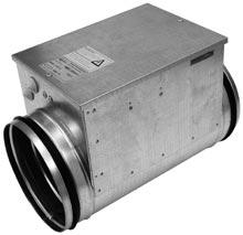 Электрический канальный нагреватель PBEC 200/5*2 фазы