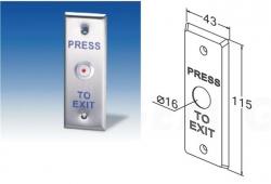 Кнопка запрос на выход (HO) 115*43 PBT-020-2
