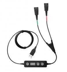 Jabra Link 265 Шнур для обучения Supervisor Y-шнур, USB на 2xQD, модуль управления и mute на шнуре