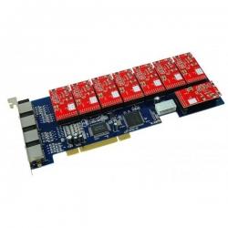 Плата AllVoIP AV50206, PCI, для Asterisk, 6 FXO, 2 FXS
