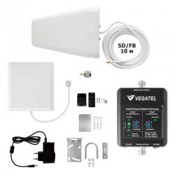 Усилитель сотовой связи VEGATEL VT-1800-kit (дом, LED)