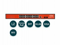 Управляемый гигабитный L2 коммутатор Wi-Tek WI-PMS326GFR