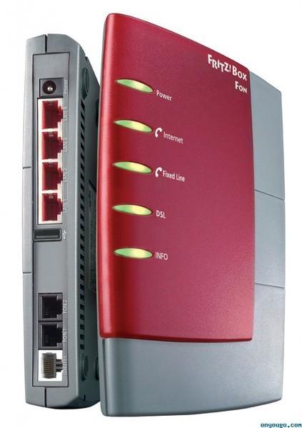 Маршрутизатор AVM FRITZ!Box Fon 5124, ADSL 2+, ethernet, USB, принт-сервер, 2 FXS