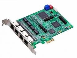 Плата для Asterisk Atcom AXE-4D (4 потока Е1/T1/J1) с эхокомпенсацией