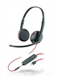 BlackWire C3225-C - проводная гарнитура (стерео, jack 3.5/USB-C)