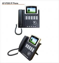 "IP300  IP-телефон (H.323, SIP), 2x10/100 Mbps, быстрый набор, цветной LCD-дисплей 4,3""*"
