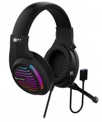 Игровая гарнитура 7.1 с подсветкой и вибрацией Accutone Halo 2 USB black