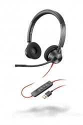 BlackWire 3320-M USB-A - проводная гарнитура для ПК с шумоподавлением (стерео, USB-A, MS Teams)
